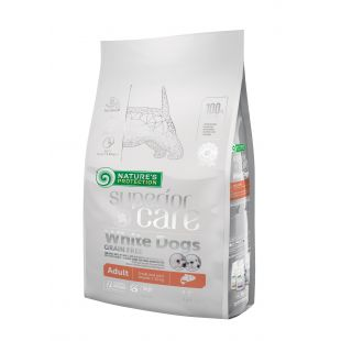 NATURE'S PROTECTION SUPERIOR CARE White dogs Grain Free Salmon Adult Small and Mini Breeds 1,5 kg