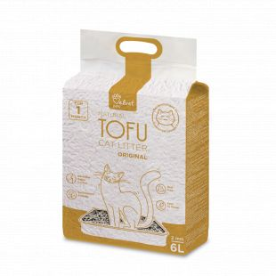 VELVET PAW Tofu cat litter, 2mm kibbles, vacuum package Original