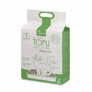 VELVET PAW Tofu cat litter, 2mm kibbles, vacuum package With green tea extract