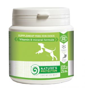 NATURE'S PROTECTION Vitamin & Mineral Formula Papildai šunims 150 g