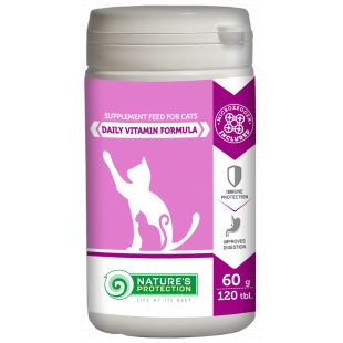 NATURE'S PROTECTION Daily Vitamins Formula, supplement for cats, 120 tbl., 60 g