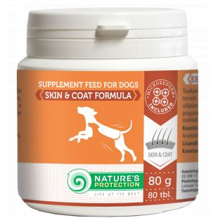 NATURE'S PROTECTION skin and coat supplement for dogs, 80 tbl., 80 g