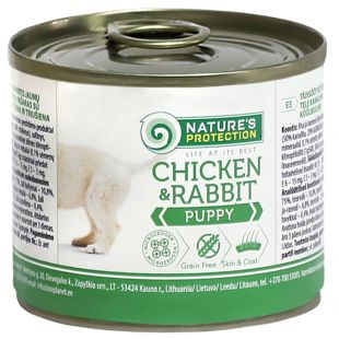 NATURE'S PROTECTION Puppy Chicken & Rabbit Canned dog food 200 g