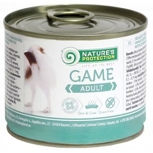 NATURE'S PROTECTION Dog Adult Game with Meat Canned dog food 200 g
