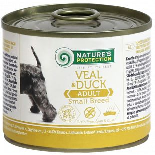 NATURE'S PROTECTION Dog Adult Small Breed Veal and Duck Canned dog food 200 g