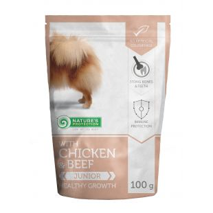 NATURE'S PROTECTION Healthy growth Junior dog With chicken and beef 100 g