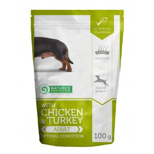 NATURE'S PROTECTION Optimal condition Adult dog With chicken and turkey 100 g