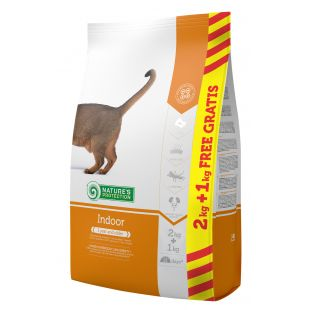 NATURE'S PROTECTION food for indoor cats 2+1kg