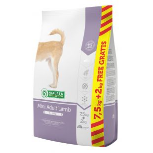 NATURE'S PROTECTION Mini Adult Lamb dry food for dogs 7.5+2 kg