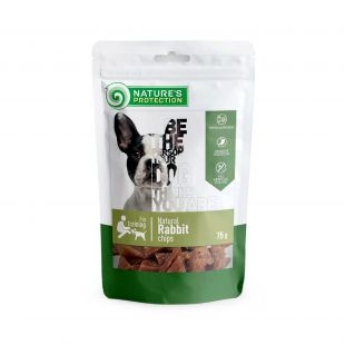 NATURE'S PROTECTION snacks for dogs, natural rabbit chips 75 g x 6