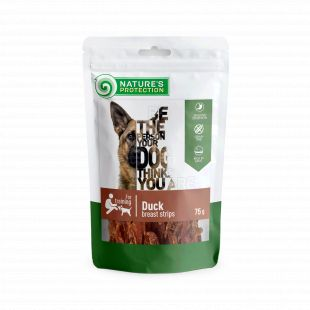 NATURE'S PROTECTION snacks for dogs, duck breast strips 75 g x 6