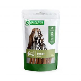 NATURE'S PROTECTION snacks for dogs, rabbit sticks 75 g x 6
