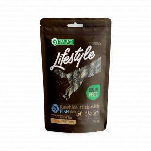 NATURE'S PROTECTION LIFESTYLE snack for dogs rawhide sticks with fish skin 75 g x 6