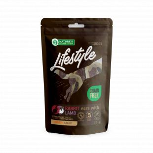 NATURE'S PROTECTION LIFESTYLE snack for dogs dried rabbit ears with lamb 75 g x 6
