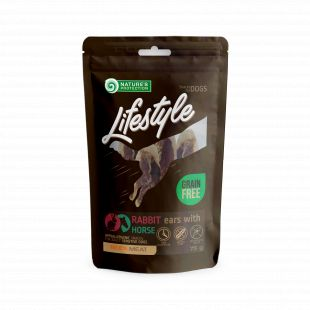 NATURE'S PROTECTION LIFESTYLE snack for dogs dried rabbit ears with horse 75 g x 6
