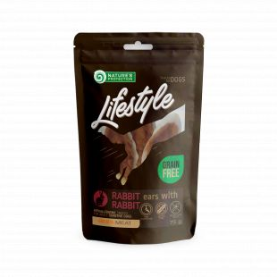 NATURE'S PROTECTION LIFESTYLE snack for dogs dried rabbit ears with rabbit 75 g x 6