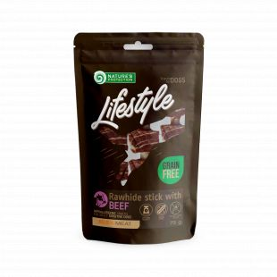 NATURE'S PROTECTION LIFESTYLE snacks for dogs, rawhide foaming sticks with beef 75 g x 6