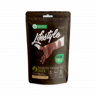 NATURE'S PROTECTION LIFESTYLE snack for dogs rawhide sticks twined by duck 75 g x 6