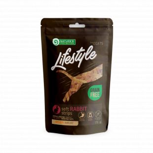 NATURE'S PROTECTION LIFESTYLE snack for cats soft rabbit strips 75 g x 6