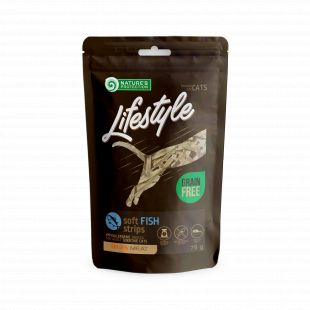 NATURE'S PROTECTION LIFESTYLE snack for cats soft fish strips 75 g x 6