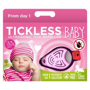 TICKLESS Ultrasonic tick and flea repeller Tickless Baby pink
