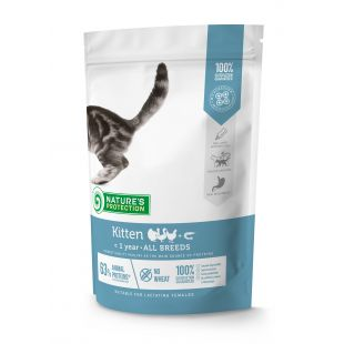 NATURE'S PROTECTION Kitten Up to 1 year Poultry with krill Sausas pašaras katėms 400 g