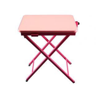 SHERNBAO X-shaped table,  Pink