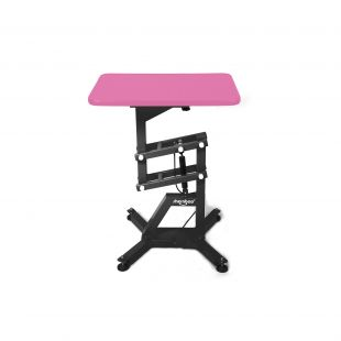 SHERNBAO Table with black frame,  Pink