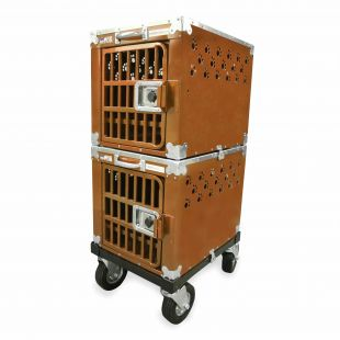 HYDROGROOM 100 Crate, double cage for animals Caramel Sparkle