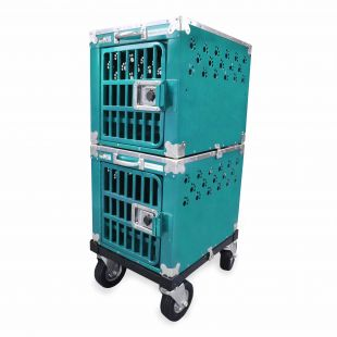 HYDROGROOM 100 Crate, double cage for animals Teal Sparkle