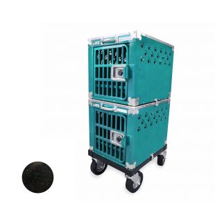 HYDROGROOM 100 Crate, double cage for animals Blue Shimmer