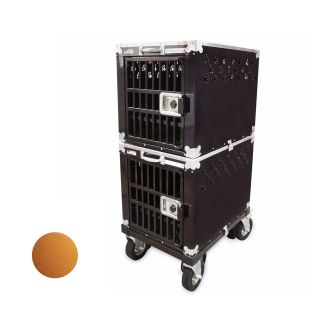 HYDROGROOM 200 Crate, double cage for animals Caramel Sparkle