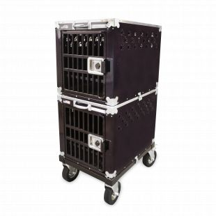 HYDROGROOM 200 Crate, double cage for animals Purple Shimmer