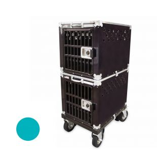 HYDROGROOM 200 Crate, double cage for animals Teal Sparkle