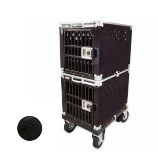 HYDROGROOM 200 Crate, double cage for animals Blue Shimmer