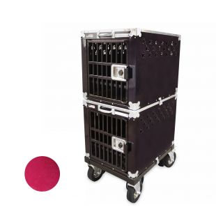 HYDROGROOM 200 Crate, double cage for animals Rasberry Sparkle