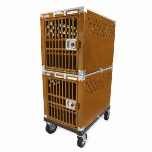 HYDROGROOM 300 Crate, double cage for animals Caramel Sparkle