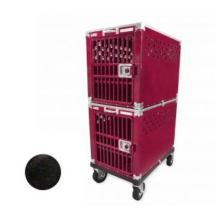 HYDROGROOM 300 Crate, double cage for animals Blue Shimmer