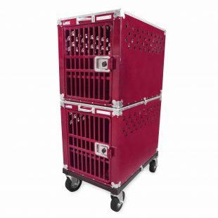 HYDROGROOM 300 Crate, double cage for animals Rasberry Sparkle