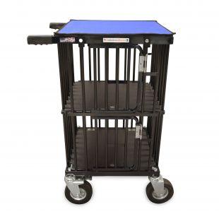 HYDROGROOM Mini double Decker 2- Berth, double pet trolley Blue Shimmer