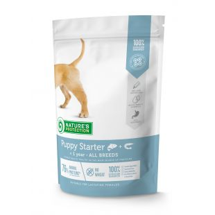 NATURE'S PROTECTION Puppy Starter All breeds Up to 1 year Salmon with kril dry food for dogs 500 g