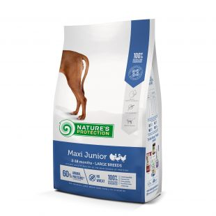 NATURE'S PROTECTION Maxi Large breeds Junior 2-18 months Poultry dry dog feed 12 kg