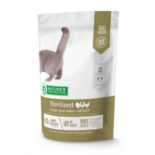 NATURE'S PROTECTION Sterilized Adult 1 year and older Poultry Dry food for cats 400 g