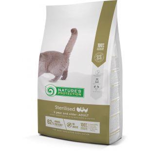 NATURE'S PROTECTION Sterilised Adult 1 year and older Poultry Sausas pašaras katėms 2 kg