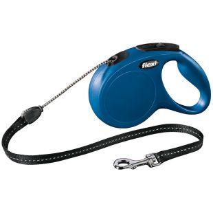 FLEXI Classic Leash, max 20 kg, 5 m, cord, blue, M