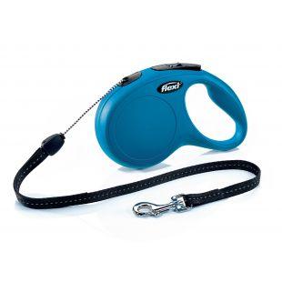 FLEXI Classic Leash, max 12 kg, 8 m, cord, blue, S
