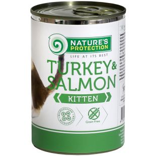 NATURE'S PROTECTION Kitten Turkey&Salmon  canned kitten food 400 g