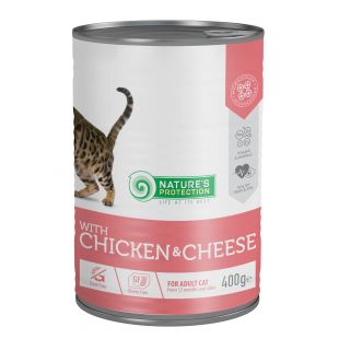 NATURE'S PROTECTION Cat adult with chicken & cheese canned food for cats 400 g