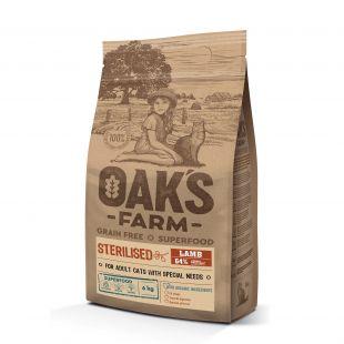 OAK'S FARM Grain Free Lamb Sterilised Adult Cat, dry food for cats 6 kg