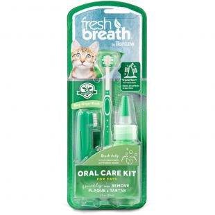 FRESH BREATH Dental care kit, for cats Green